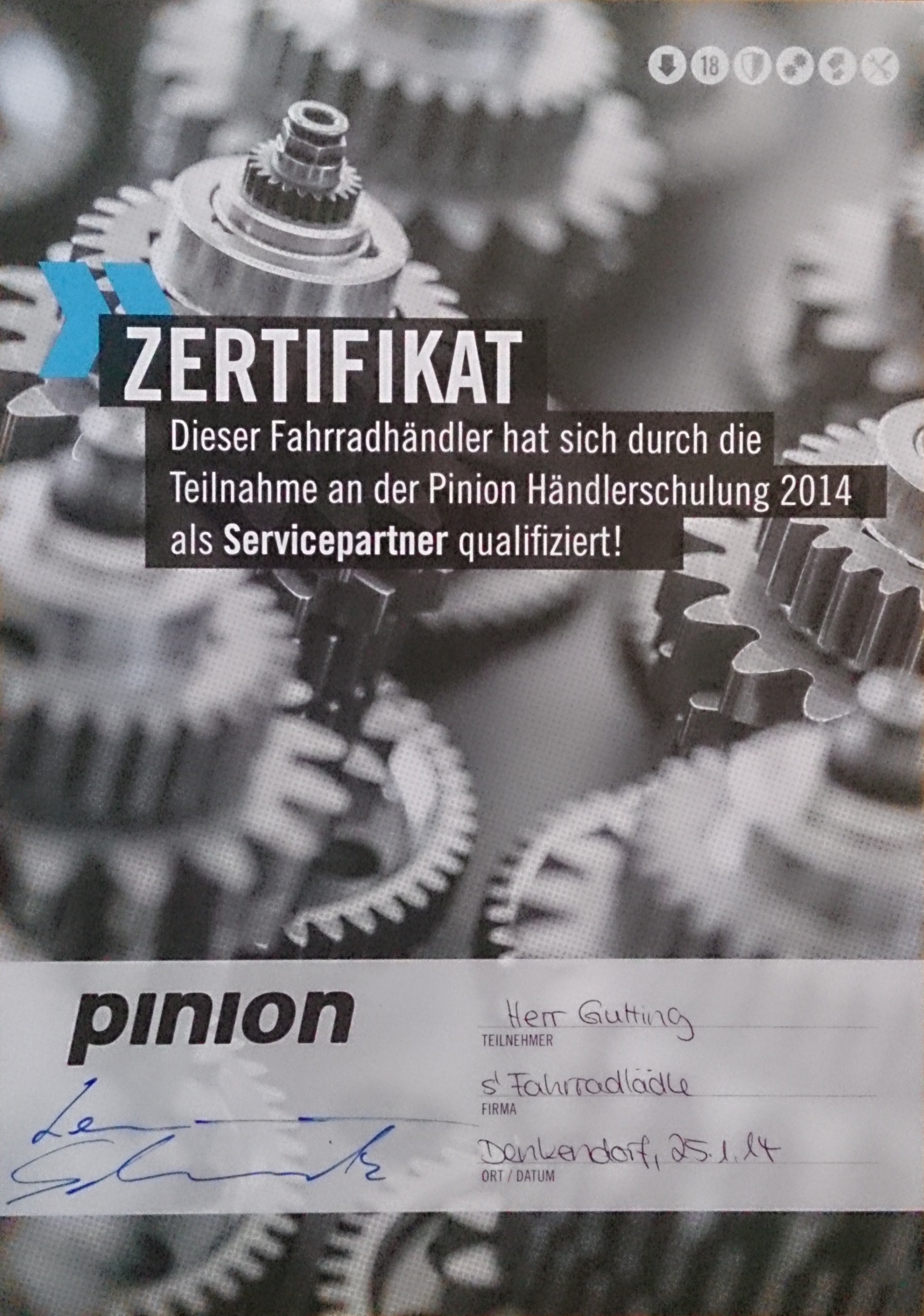 Pinion_Schulung